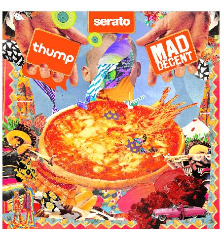 Peyote Pizza Braykz - A Mad Decent x Thump x Serato 2x12 front cover